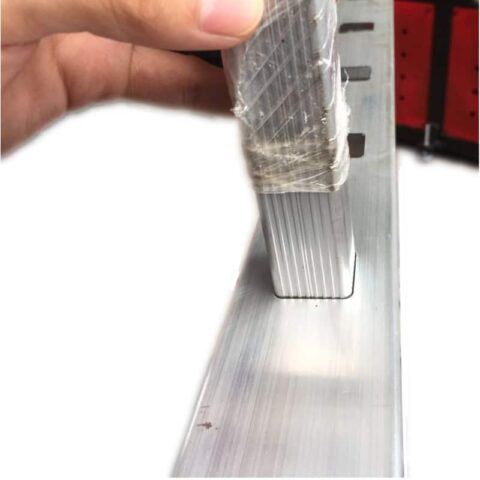Aluminum punching machine samples for ladder side profiles
