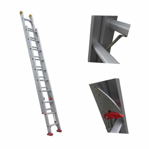 Ladder making machine for extension ladder