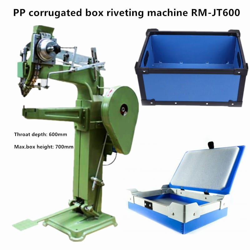 PP corrugated box riveting machine RM-JT600