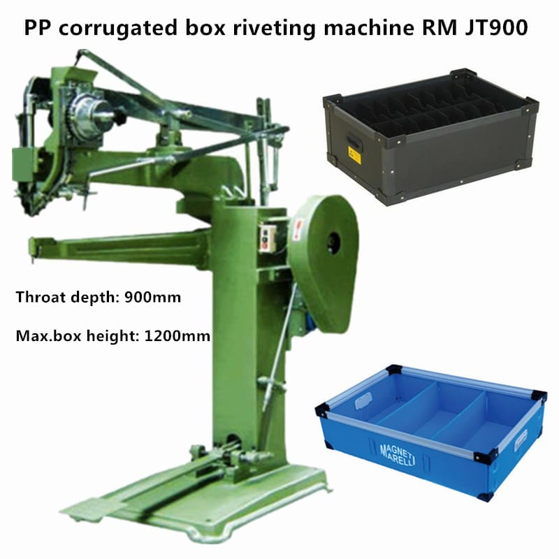 PP corrugated box riveting machine RM JT900