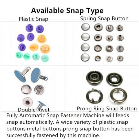 Fully Automatic Snap Fastener Machine Snap button type