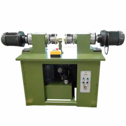 Two head orbital riveting machine for caster wheel