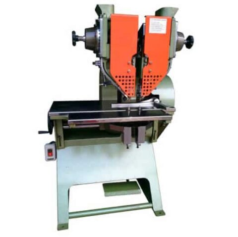 Dual head adjustable riveting machine for lever arch file folder