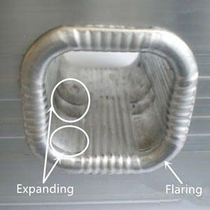 Ladder expanding flaring sample