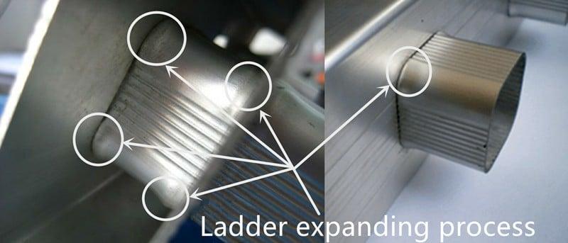 Ladder expanding process