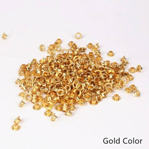 Tags Label Eyelets Gold Color