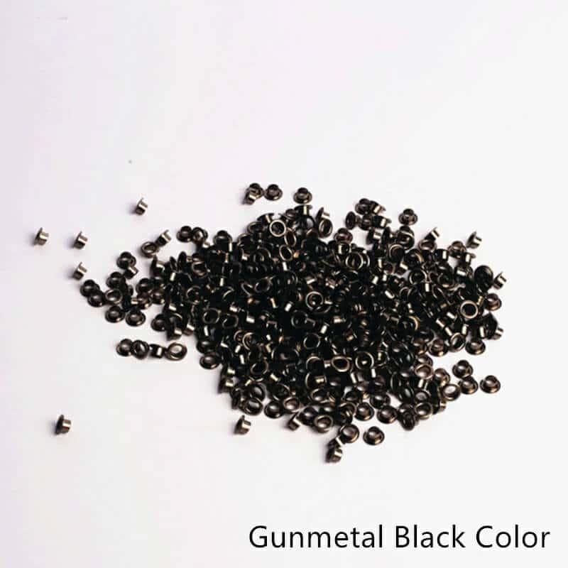 Tags Label Eyelets Gunmetal Black Color