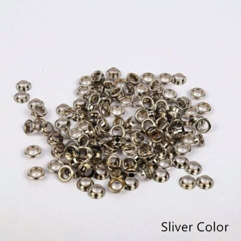 Tags Label Eyelets Silver Color