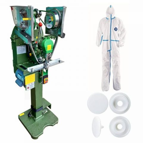 Disposable Coveralls Fully Auto Button Attaching Machine