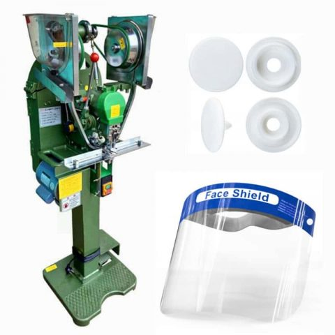 Face Shield Automatic Button Fastener Machine