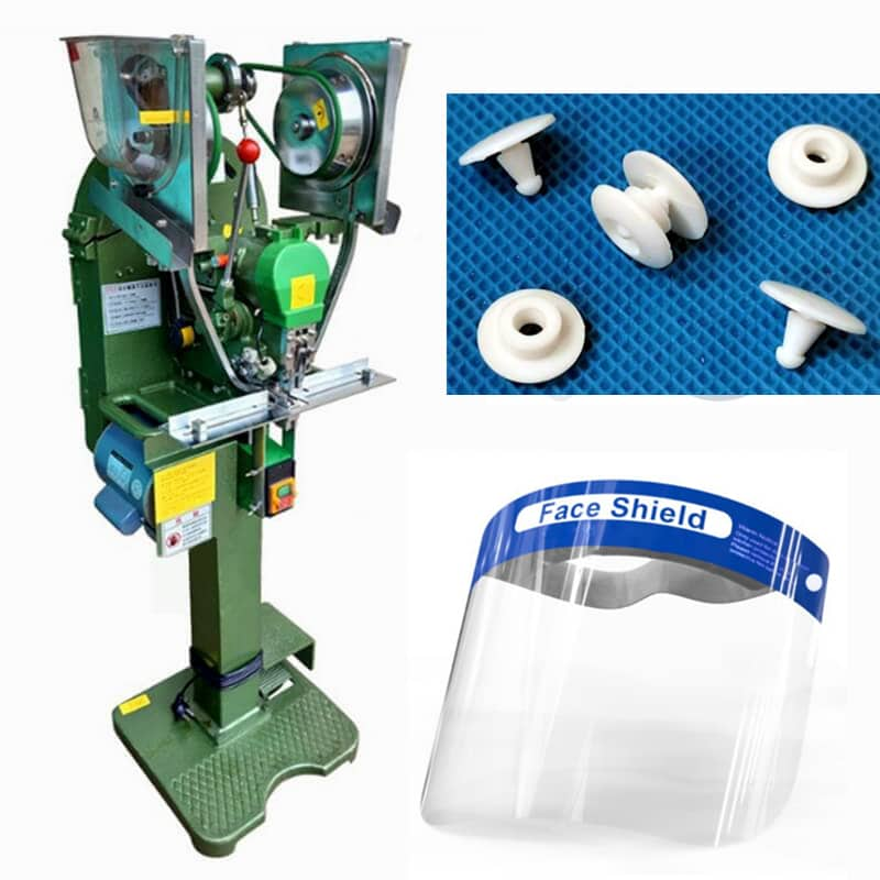 Splash Protective Face Shield Automatic Button Fastener Machine